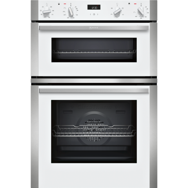 neff u1ace2hw0b built in electric double oven grill. Black Bedroom Furniture Sets. Home Design Ideas