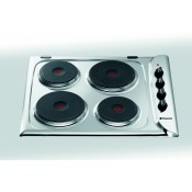 Hotpoint E604X Electric Solid Plate Hob stainless