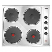 Candy CLE64X Solid Plate Electric Hob Stainless Steel