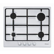 Candy CPG64SPB 4 Burner White Gas Hob