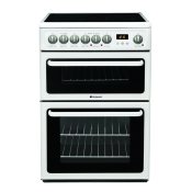 Hotpoint HAE60PS 60cm Double Oven Electric Cooker White