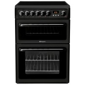 Hotpoint HAE60K Electric 60cm Double Oven Black