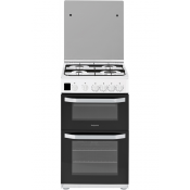Hotpoint HD5G00CCW 50cm Gas Cooker Double Oven White