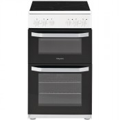 Hotpoint HD5V92KCW 50cm Twin Cavity Electric Cooker White