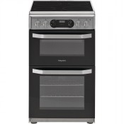 Hotpoint HD5V93CCSS 50cm Ceramic Double Oven Silver