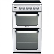 Hotpoint HUE52P 50cm Electric Double Oven Cooker White