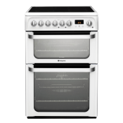 Hotpoint HUE61PS 60cm Electric Double Oven Cooker White