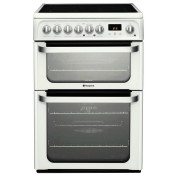 Hotpoint HUE62P 60cm Electric Double Oven Cooker White