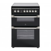 Indesit ID60C2KS 60cm Electric Double Oven Cooker Black