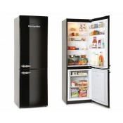 Montpellier MAB385K 60cm Frost Free Retro Fridge Freezer Black