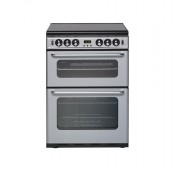NewWorld NW600TSIDLMS 60cm Twin Cavity Gas Cooker Silver