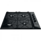 Indesit PAA642IBK 4 Burner Gas Hob Black