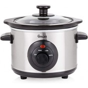 Swan SF17010N 1.5 Litre Slow Cooker Stainless Steel
