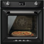 Smeg SF6922NPZE1 Single Electric Victoria Oven Black